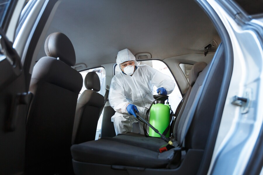 Vehicle Disinfection by Certified Green Team